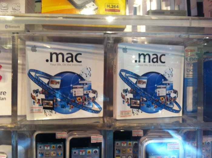 Retail boxes for .mac subscriptions.