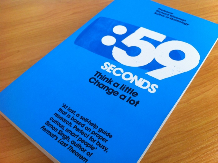 Cover of 59 Seconds by Richard Wiseman.